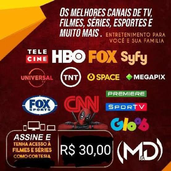 IPTV TODOS CANAIS VIA INTERNET